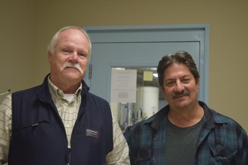 Mark Rosemark, superintendent of Wellington Water Treatment, and Scott Bowman, chief operator of the plant