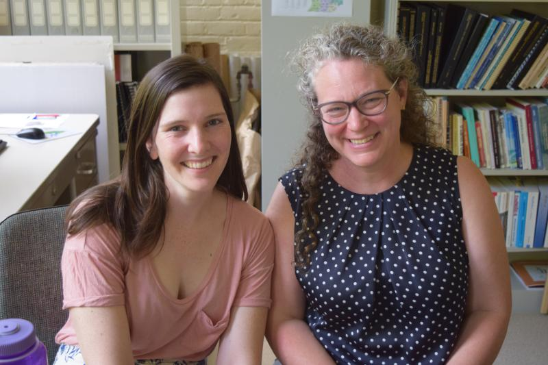 Molly Lutton, program manager for the Environmental Fellows Program and M'Lis Bartlett