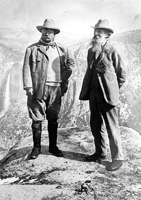 Theodore Roosevelt and John Muir at Yosemite in 1903
